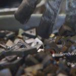 Manufactura y reciclaje: Del carburo de tungsteno en Sandvik Coromant